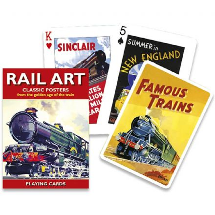 Piatnik Rail Art Classic Posters Playing Cards